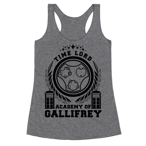 Time Lord Academy of Gallifrey Racerback Tank Top