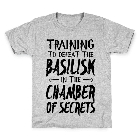 Training to Defeat the Basilisk in the Chamber of Secrets Kids T-Shirt