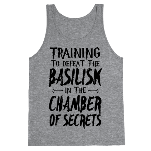 Training to Defeat the Basilisk in the Chamber of Secrets Tank Top