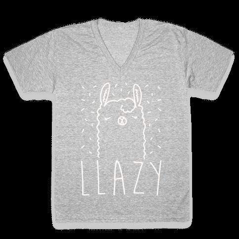 Llazy Llama V-Neck Tee Shirt