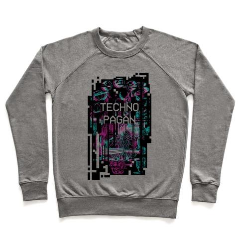 Techno Pagan Glitch Art Pullover