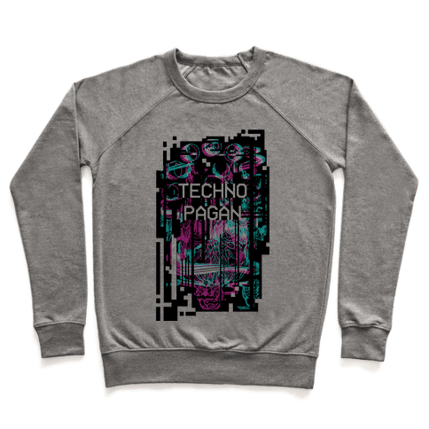Techno Pagan Glitch Art Pullover
