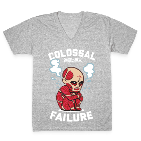 Colossal Failure Parody V-Neck Tee Shirt