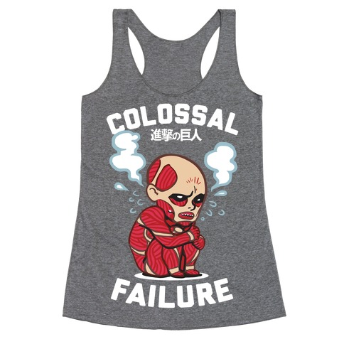 Colossal Failure Parody Racerback Tank Top