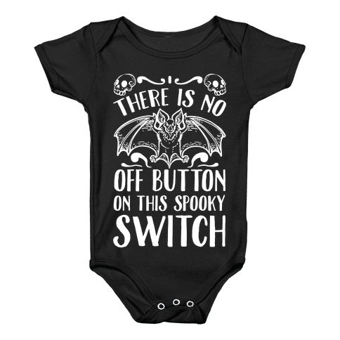 There Is No Off Button on This Spooky Switch Baby Onesy