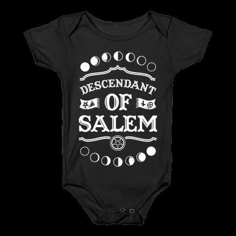 Descendant of Salem Baby Onesy