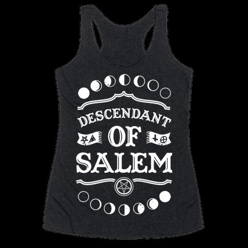 Descendant of Salem Racerback Tank Top