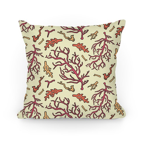Lovely Vintage Seaside Coral Pattern Pillow
