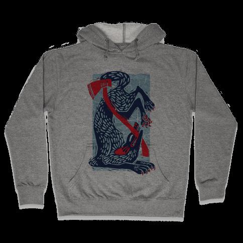The Big Bad Wolf's Defeat Hooded Sweatshirt