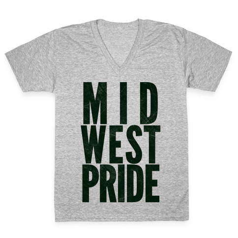 Midwest Pride V-Neck Tee Shirt