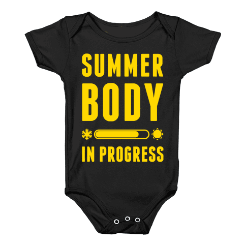 Summer Body In Progress Baby Onesy