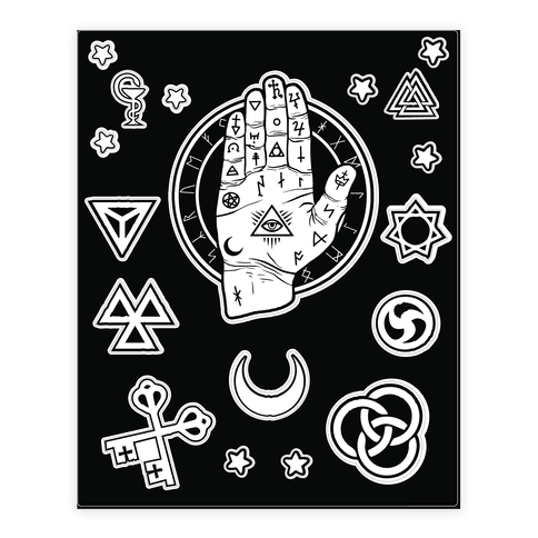 Occult Hand  Sticker/Decal Sheet