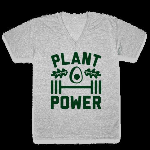 Plant Power V-Neck Tee Shirt