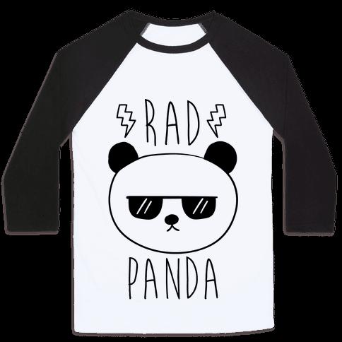 Rad Panda Baseball Tee