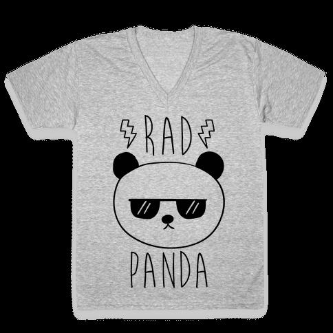 Rad Panda V-Neck Tee Shirt