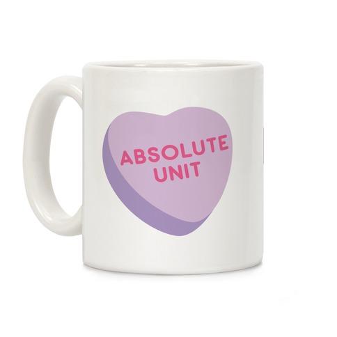 Absolute Unit Candy Heart Coffee Mug