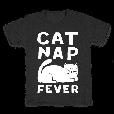 Cat Nap Fever Kids T-Shirt
