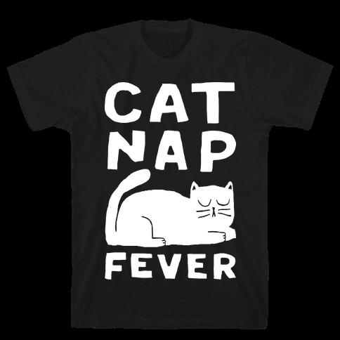 Cat Nap Fever Mens T-Shirt