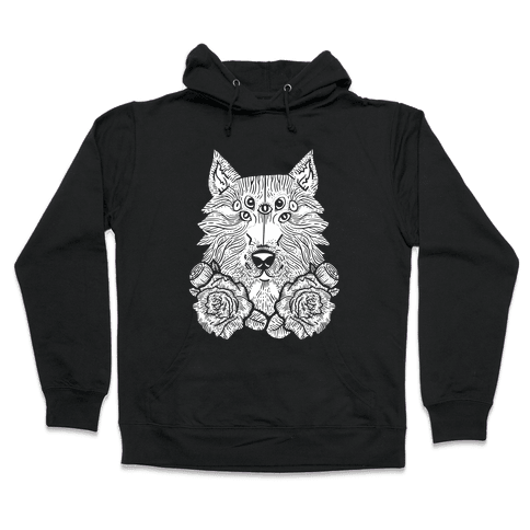 Seven Eyed Wolf Hooded Sweatshirt