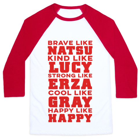 Fairy Tail Personality Baseball Tee
