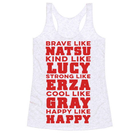 Fairy Tail Personality Racerback Tank Top