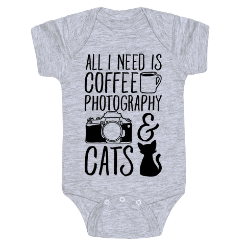 All I Need is Coffee Photography & Cats Baby Onesy