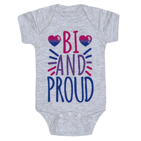 Bi And Proud Baby Onesy