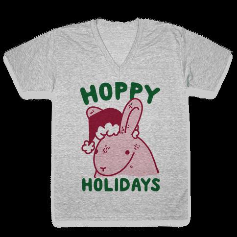 Hoppy Holidays V-Neck Tee Shirt