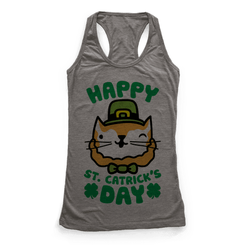 Happy St. Catrick's Day Racerback Tank Top
