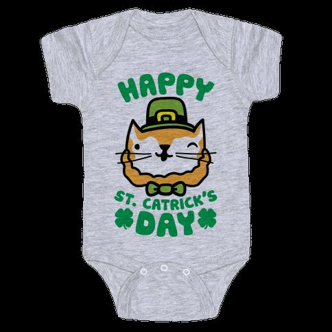 Happy St. Catrick's Day Baby Onesy