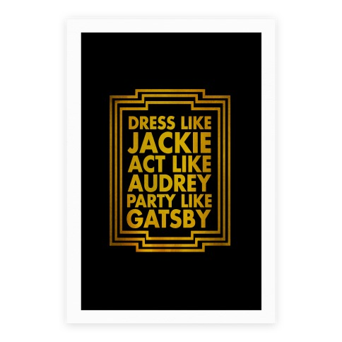 Party Like Gatsby Poster