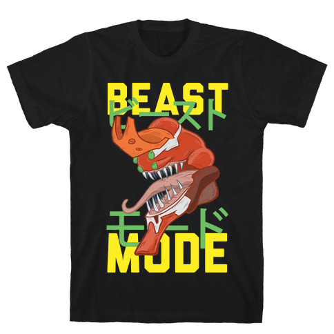 Beast Mode Eva Parody Mens T-Shirt