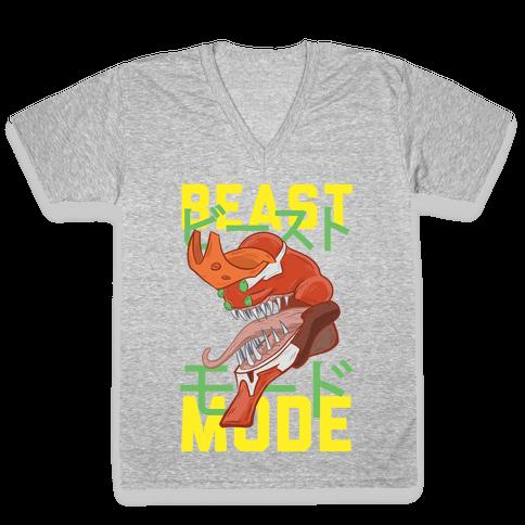 Beast Mode Eva Parody V-Neck Tee Shirt
