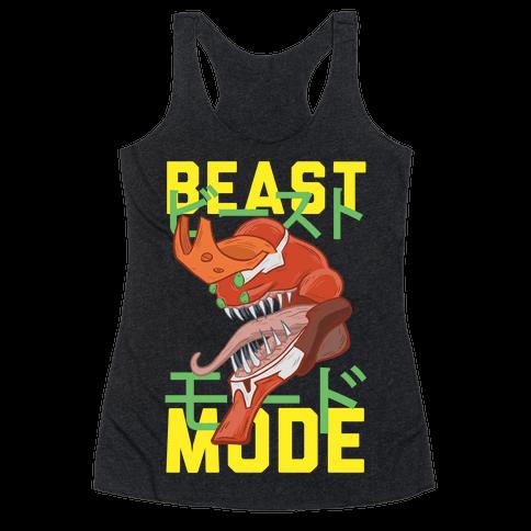 Beast Mode Eva Parody Racerback Tank Top