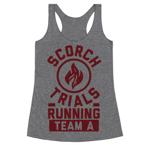 Scorch Trials Running Team A Racerback Tank Top
