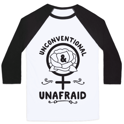 Unconventional & Unafraid Baseball Tee