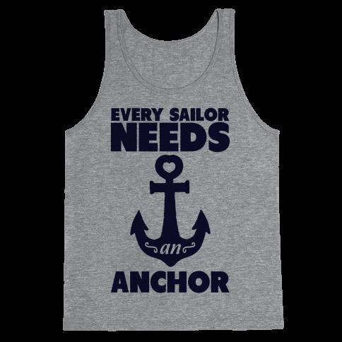 Every Sailor Needs an Anchor Tank Top