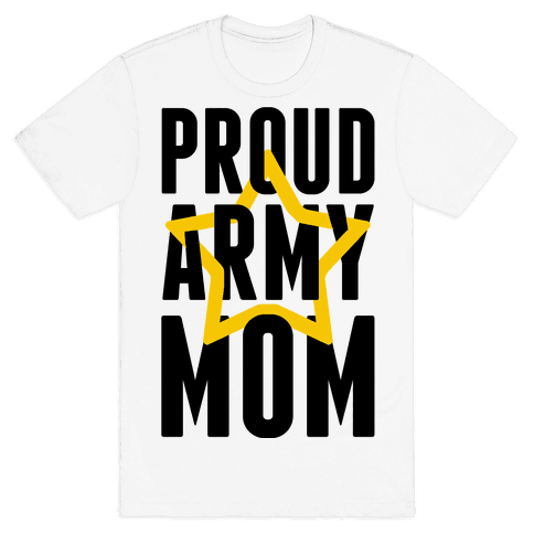 Proud Army Mom Mens T-Shirt