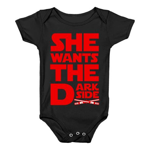 She Wants the Dark Side Baby Onesy