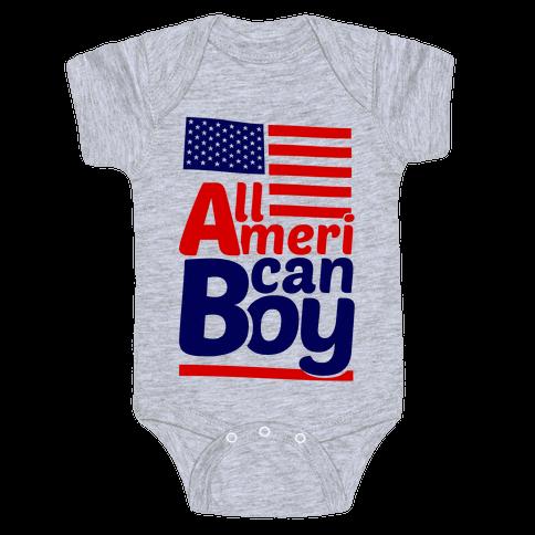 All American Boy Baby Onesy