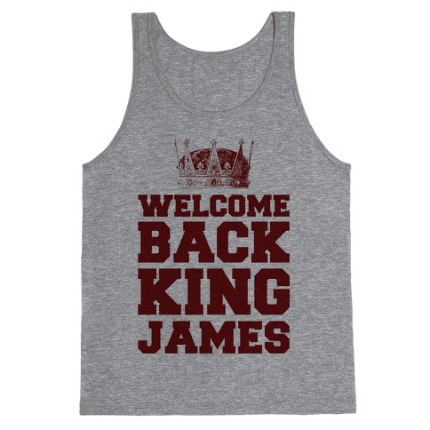 Welcome Back King James Tank Top