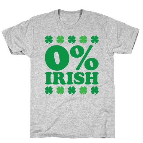 Zero Percent Irish Mens/Unisex T-Shirt