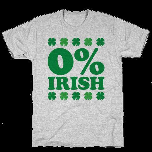 Zero Percent Irish Mens T-Shirt