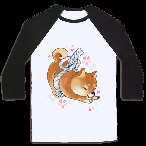 Shiba Inu Dog Baseball Tee