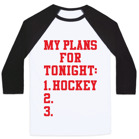 Hockey Plans Baseball Tee