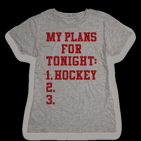 Hockey Plans Womens T-Shirt