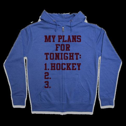 Hockey Plans Zip Hoodie