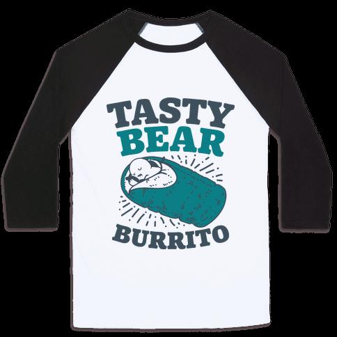 Tasty Bear Burrito Baseball Tee