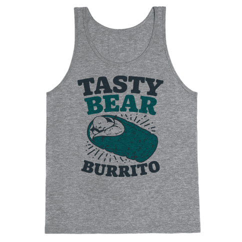 Tasty Bear Burrito Tank Top