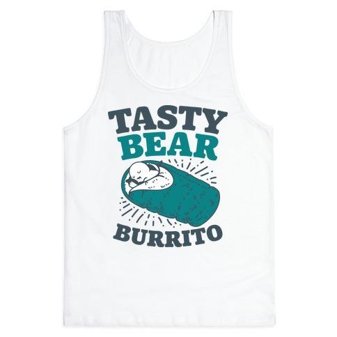 Tasty Bear Burrito Tank Top